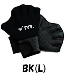 ★TYR FITNESS GLOVES LFIT★  アクアグローブBK(L)